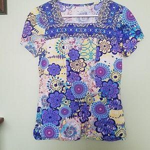 Tops - Scrub/ uniform top size small
